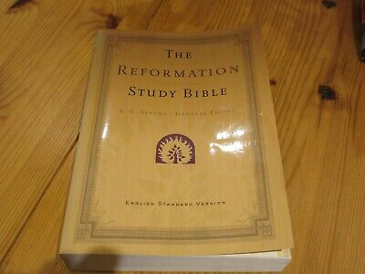 REFORMATION STUDY BIBLE - ESV - 2ND EDITION WITH MAPS - By R C Sproul Editor NEW