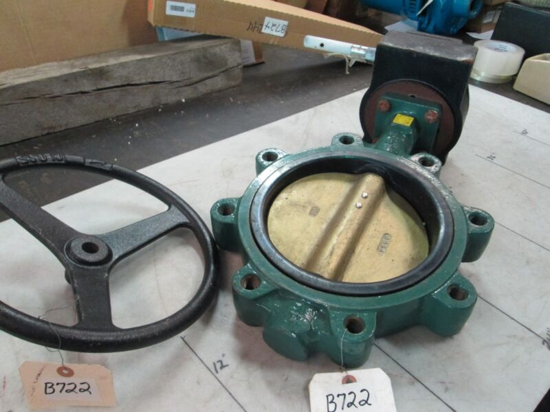 "Centerline 8"" Butterfly Valve W/Gear Actuator Ser 200 Disc: Al/BRZ EPDM (NEW)"