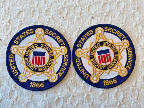 UNITED STATES SECRET SERVICE PATCH - WHITE -  (NEW STYLE) - LOT OF TWO