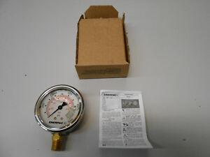 ENERPAC G2535L HYDRAULIC PRESSURE GAUGE GLYCERINE FILLED 0-10,000PSI 1/4