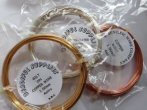 Copper-Craft-Jewellery-Wire-Silver-Plated-Gilt-or-Copper-0-4-1-0mm-Coils