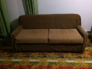 BARGAIN. Sofa bed, table,stand, chair, end Tables, Dresser.