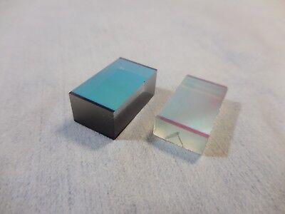 Laser Optical Dichroic Mirrors 22mm X 12mm X 9mm 22mm X 12mm X 5mm Lot Of 2