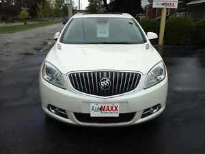 2013 BUICK VERANO LEATHER PACKAGE- POWER GLASS SUNROOF, NAVIGATI