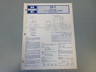 Rare Bucyrus-erie 25-t Crane Excavator Spec Information 1966