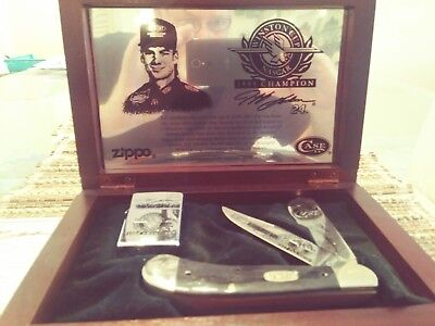 JEFF GORDON 1995 WINSTON CUP ZIPPO LIGHTER AND CASE KNIFE COLLECTOR'S SET