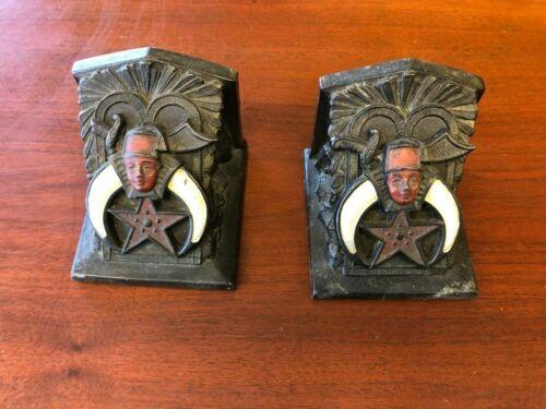 Vintage Shriners Metal Bookends