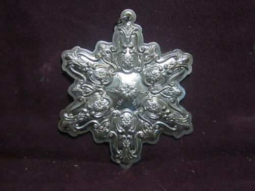 Towle 1990 Sterling CHRISTMAS SNOWFLAKE  ORNAMENT  Annual Series
