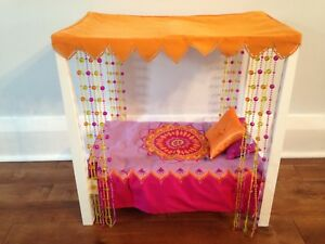 American girl doll bed and bedding for Julie