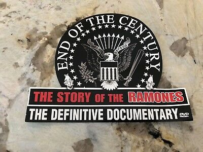 RAMONES - END OF THE CENTURY: THE STORY OF THE RAMONES PROMO STICKER (B-3)