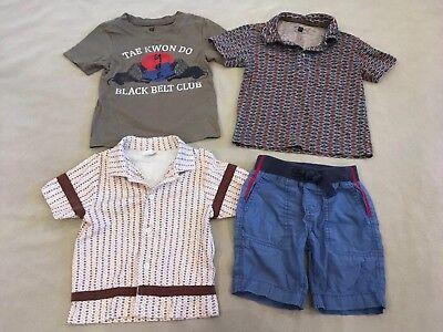 Boys Daily Tea Collection (Daily Tea Collection Lot 2 3 Boys Polos Shorts Tae Kwon Do)