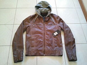Mens YD Tan Leather Look Jacket Awesome BNWT