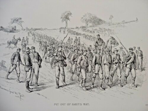 Edwin Forbes Civil War Etching Put Out of Harm