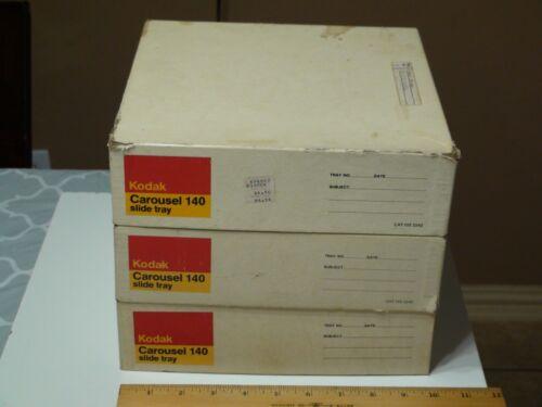 Kodak Carousel 140 Slide Tray - Lot of 3 Empty in Original Boxes