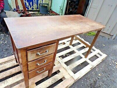 Vintage Office Desk  Mid Century Single Pedestal