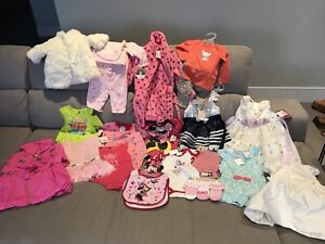 brand new with tags baby girl clothes, jackets, robe, onesie,