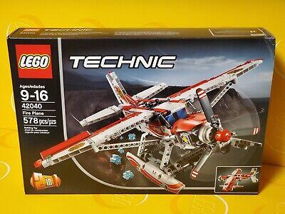"""NEW LEGO TECHNIC """"FIRE PLANE"""" 2 in 1 SET #42040 W/ 578pcs- Released 2015"""