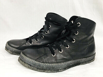 A Diciannoveventitre Mens 8 41 Black A1923 Leather Lace Up Sneakers Shoes