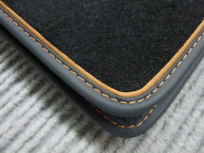 $$$ Fußmatten passend für Mercedes Benz R129 SL + ECHTLEDERRAND COGNAC NEU $$$