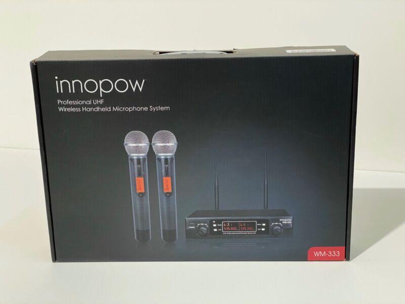 innopow WM 333 80-Channel Dual UHF Wireless Microphone System New - Open Box