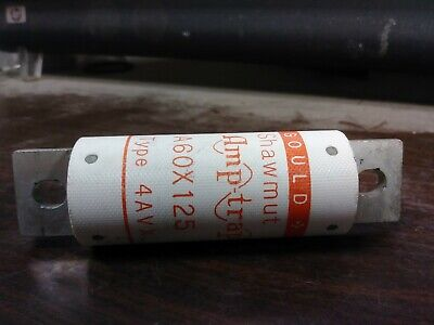 Gould Shawmut A60x125 Semiconductor Fuse 125 Amp 600 Vac New No Box Take-out