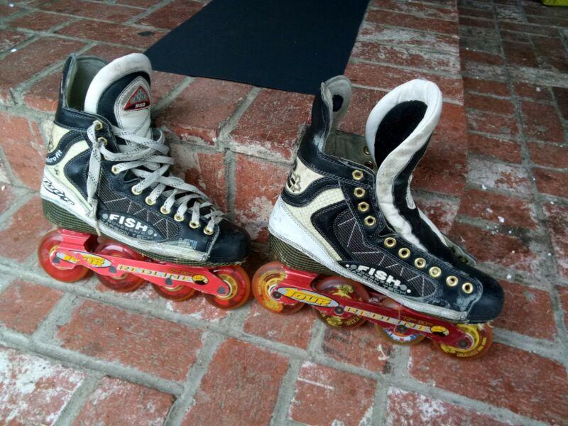 Carbon 982 Hockey Skates Size 10 bone Weaver carbon tech