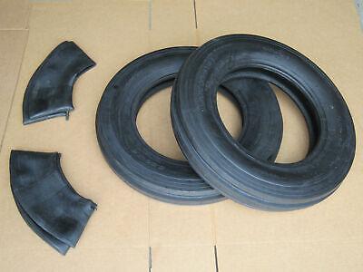 2 5.5-16 Tri Tread Front Tires Innertubes Tractor Fiat 5.5x16 550x16 550-16