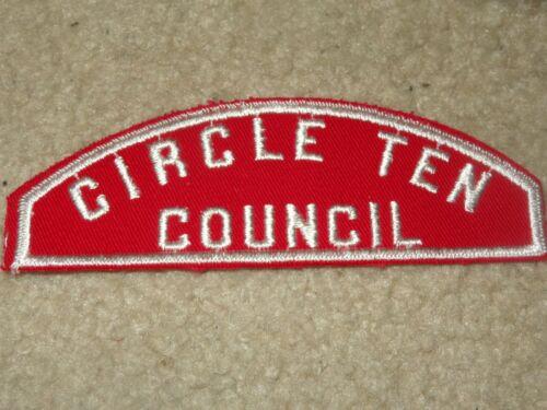 Boy Scout BSA Circle Ten Texas Red White RWS Council Strip PRE CSP Patch