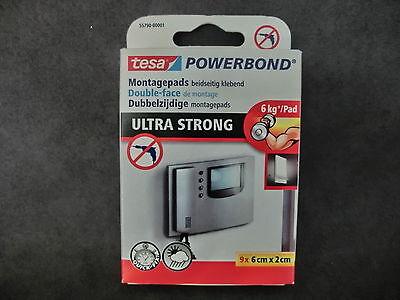 1 Pack = 9 St. Montagepads POWERBOND 6kg/Pad tesa 55790 beidseitig klebend BR