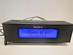 SONY ICF-C707 Dream Machine Alarm Clock Radio AM/FM Five Nature Sounds Black