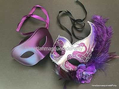 Masquerade ball pair For Couple fancy Halloween costume Xmas midnight Party Mask](Couples For Halloween)