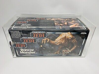 UKG85 Graded Vintage Star Wars Palitoy Tri-Logo Rancor Monster ROTJ 1983 MISB