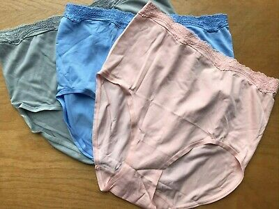3 Pack Arabella High Lace Waist Full Coverage Briefs Panties Medium Womens NEW Full Coverage Lace Panties