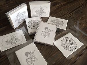 Beautifugreeting cards with handmade images
