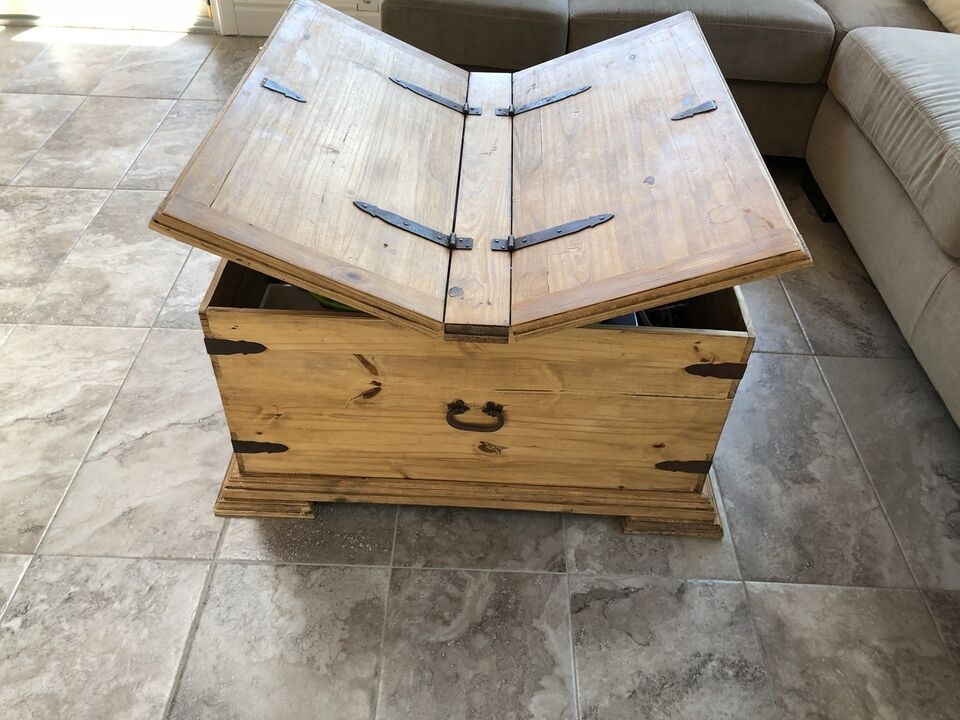 Description Up Is A Beautiful Handcrafted Mexican Pine Storage Chest That Works As Coffee Table
