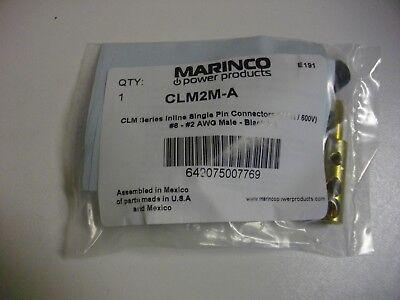 Marinco Clm2m-a Clm Series Inline Single Pin Connector 150a600v Blk