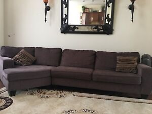 2 piece custom made brown couch ( sofa and loveseat)