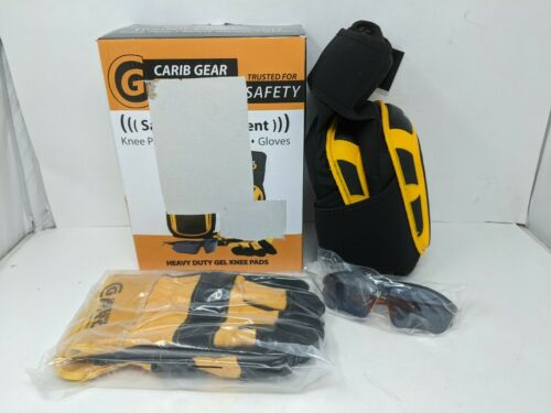 Carib Gear Safety Equipment Knee Pads Glasses Gloves