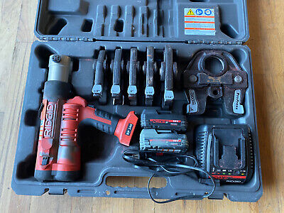 Ridgid Rp340 Pro Press Tool Complete Kit Set - Tested And Working
