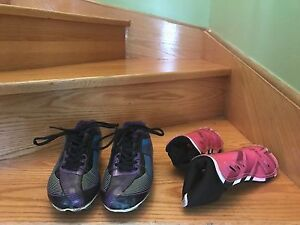 Good Condition Soccer Cleats and Shin Guards (Woman)