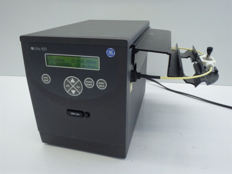 GE Healthcare Uvis-920 UV Absorbance Monitor w/ Flow Cell & 280nm Filter