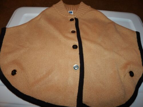 EEUC Janie and Jack Girls 18-24 Months BUTTERSCOTCH BELLE Poncho Equestrian Swea