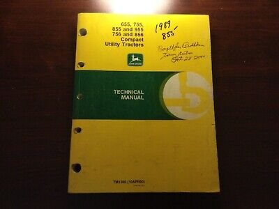 John Deere 655 755 756 855 856 955 Compact Tractor Technical Manual