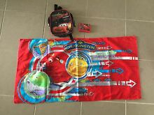 Kids Chuggington beach towel and cars backpack Thornton Maitland Area Preview