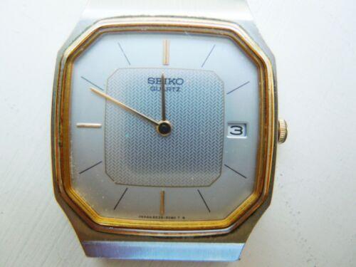 SEIKO 6439-5039 RO MENS DRESS WATCH GOLD & SILVER TONE DATE RUNS GR8 NEW BATTERY