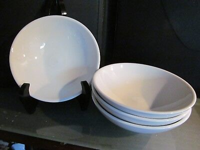 4 Virgin Atlantic Airline Round Side Bowl Dish Plate Dudson China England Tray