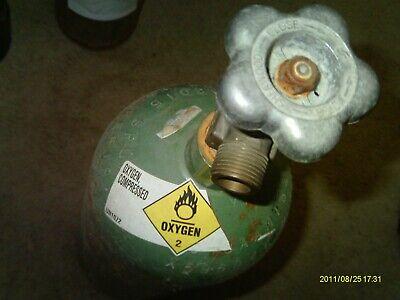 Oxygen 20 Cf Welding Gas Tank Cylinder W Cga 540 Valve No Handle