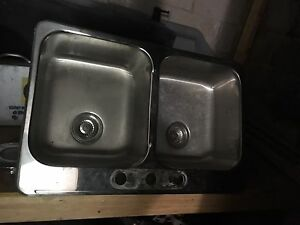 Stainless double sink