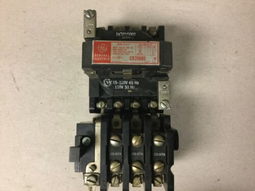 General Electric GE CR206B0 CR206BO Size 0 Motor Starter with 120 Volt Coil