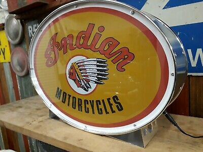 Indian,chief,scout,lightup,sign,illuminated,display,mancave,garage,motorcycle